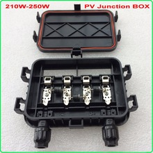 210W – 250W Solar Junction Box waterproof IP65 for solar cells panel connect PV junction box solar cable connection with diode