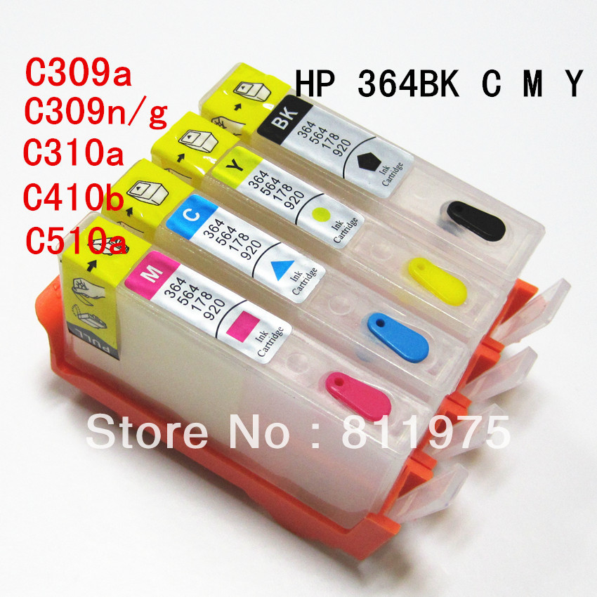 For HP 364 HP364 XL refillable ink cartridge For HP Photosmart 5510 5511 5512 5514 5515