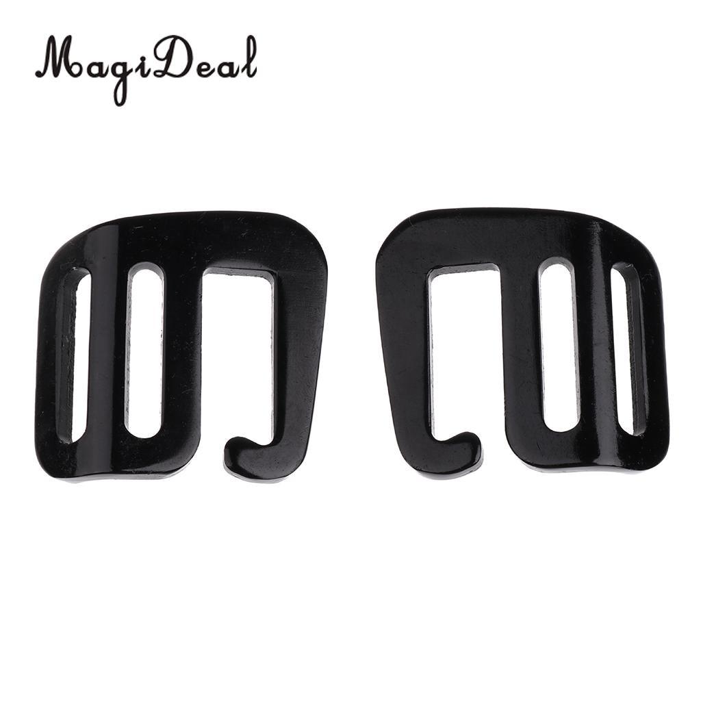 MagiDeal 8 Pcs 1 inch G Hook Outdoor Webbing Buckle for Backpack Strap 25mm Black