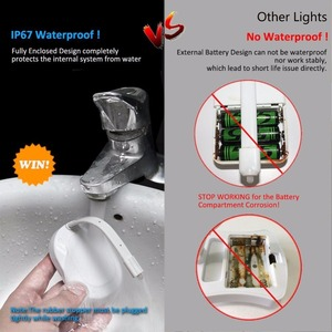 Image 5 - עמיד למים USB נטענת תאורה אחורית עבור אסלת עם תנועת חיישן 12 צבעים הופעל אמבטיה אסלת לילה אור