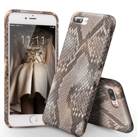 QIALINO Case for iPhone7 Genuine Leather Phone Cover for iPhone7 plus Luxury Custom built Python Skin Back Case for 4.7/5.5 inch