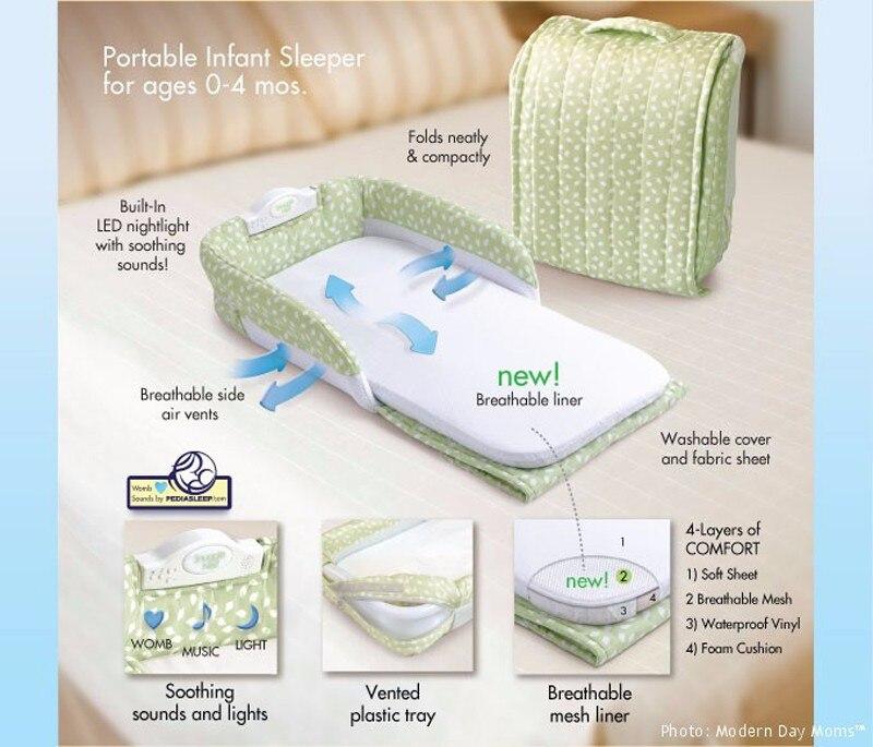 Lit bébé Portable nouveau-né nid douillet lit de sécurité pour bébé garçon filles pliable lit de voyage enfants co-dormir lit d'isolement - 3