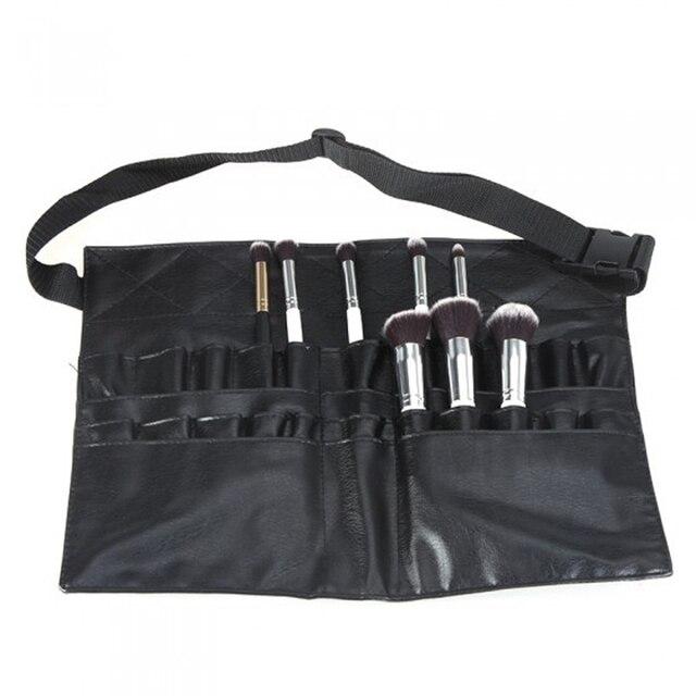 Us 12 89 30 Off Aliexpress 2017 Black Two Arrays Makeup Brush Holder Professional Pvc A Bag Artist Belt Strap Portable Make Up