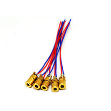 5pcs Mini-type 650nm 1mW Red Laser Diode Module Brass Dot Unit 6x10mm 3V недорого