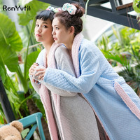RenYvtil Women S Plush Sherpa Lined Bath Robe Slippers Set Winter Thicked Warm Lamb Wool Long