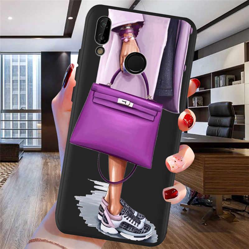 Huawei 社 P8 P10 P20 P30 メイト 10 20 名誉 8 8X 8C 9 V20 20i 10 Lite プラスプロケースカバー Coque 小箱 Funda ファッションガール女性