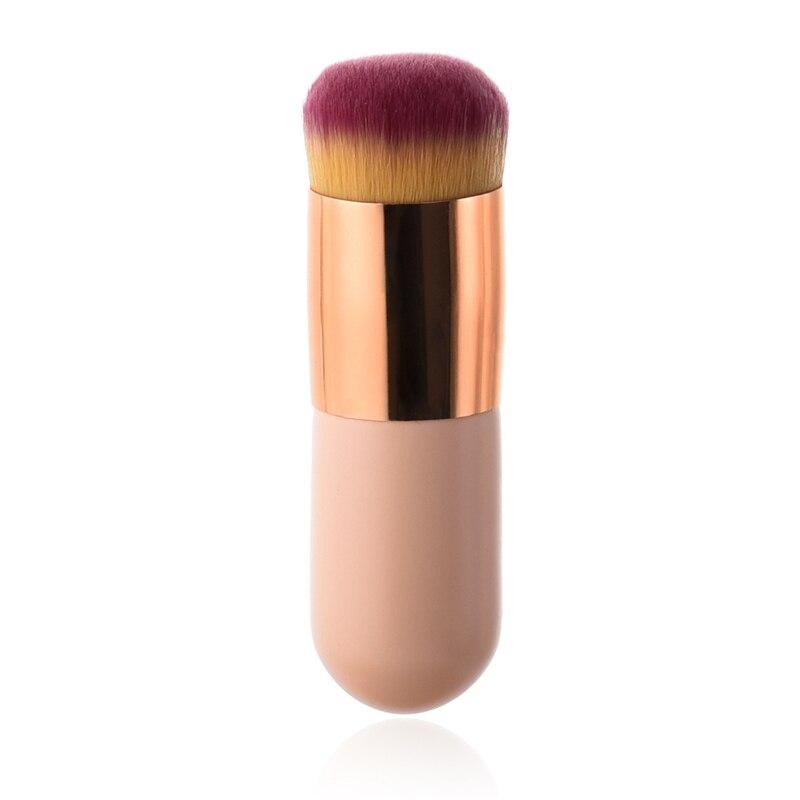 1pc New Chubby Pier Foundation Brush Flat Cream Makeup Brushes Professional Cosmetic Make-up Brush