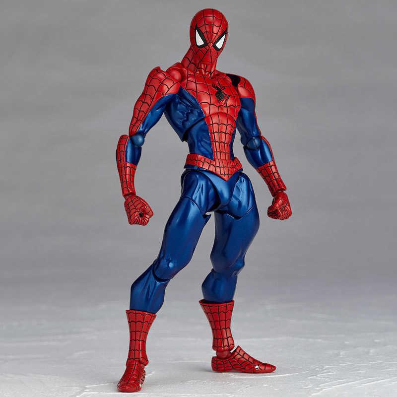 """Бесплатная доставка 6 """"Tokusatsu Revoltech серии № 002 Hero Человек паук человек в коробке 16 см ПВХ фигурку Модель Куклы игрушечные лошадки подарок"""