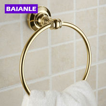 Nueva Llegada Euro Estilo de Montaje En Pared Sostenedor de la Toalla de Bronce Antiguo Anillo de Toalla de Baño Accesorios de Baño Baño de Hardware