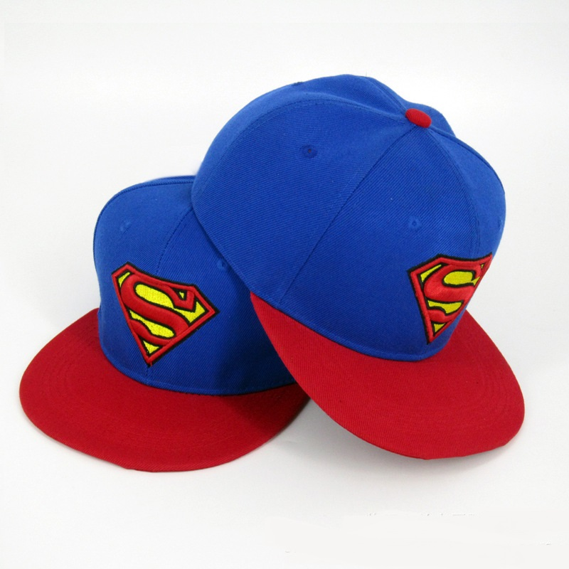 Embroidery Superman Snapback hat Super Man Adjustable Hip Hop Casual Baseball cap for adults Fashion Hip Hop Caps Casquette Hat