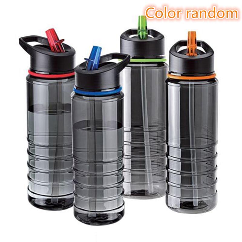 750ML Outdoor Water Bottle Flip Tritan Straw Drinks Water Bottle Bike Drink Bottle  with Lid Hiking Camping Plastic water cup