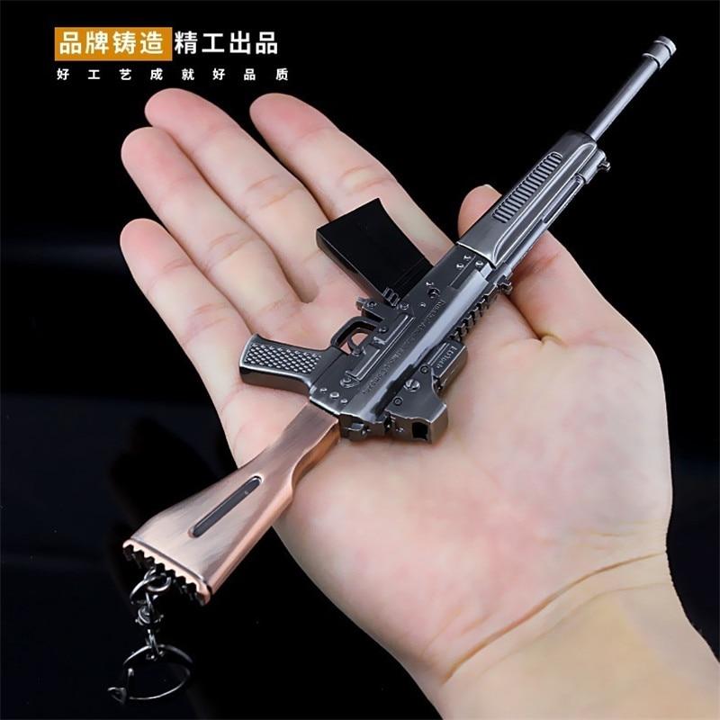 Mk14 Game Playerunknowns Battlegrounds 3d Keychain Pubg Keyring Saucepan Pendant Funny Kids Toy Gun Accessories 100% Original Novelty & Special Use