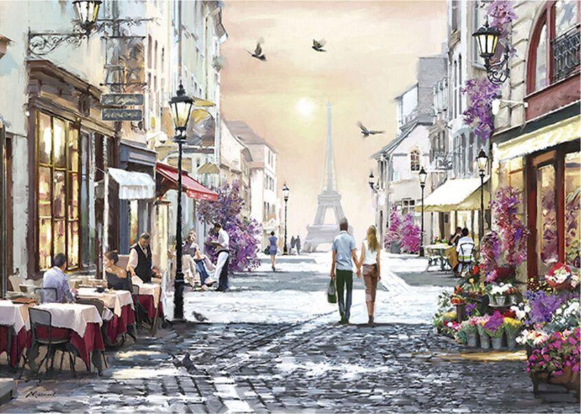 Romantic Paris The Paper Puzzle 1000 Pieces Ersion  Jigsaw Puzzle White Card Adult Children's Educational Toys