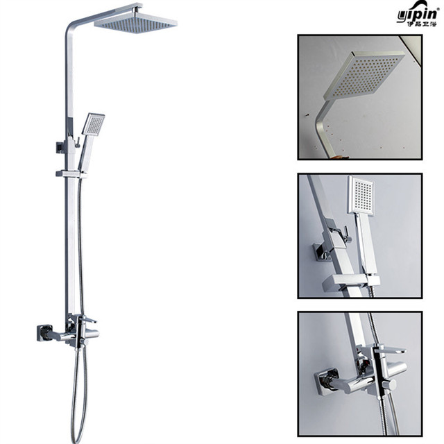 Bathroom Shower Set Brass Chrome Wall Mounted Shower Faucet Shower Head Water  Saving Nozzle Aerator Shower