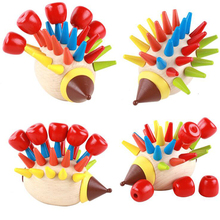 2017 New Arrival Baby Montessori Hedgehog Blocks Magnetic Toy Model Building Kits Disassembly & Assembly Block Early Educational