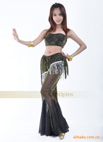 2015 The New Flash Silver Cloth Suit Belly Dance Clothes Belly Dance Costume Monopoly Wholesale