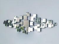 Бесплатная доставка Современный, зеркальный Настенный декор скошенный полинаправленный квадратный зеркальный мульти грань стеклянное зе