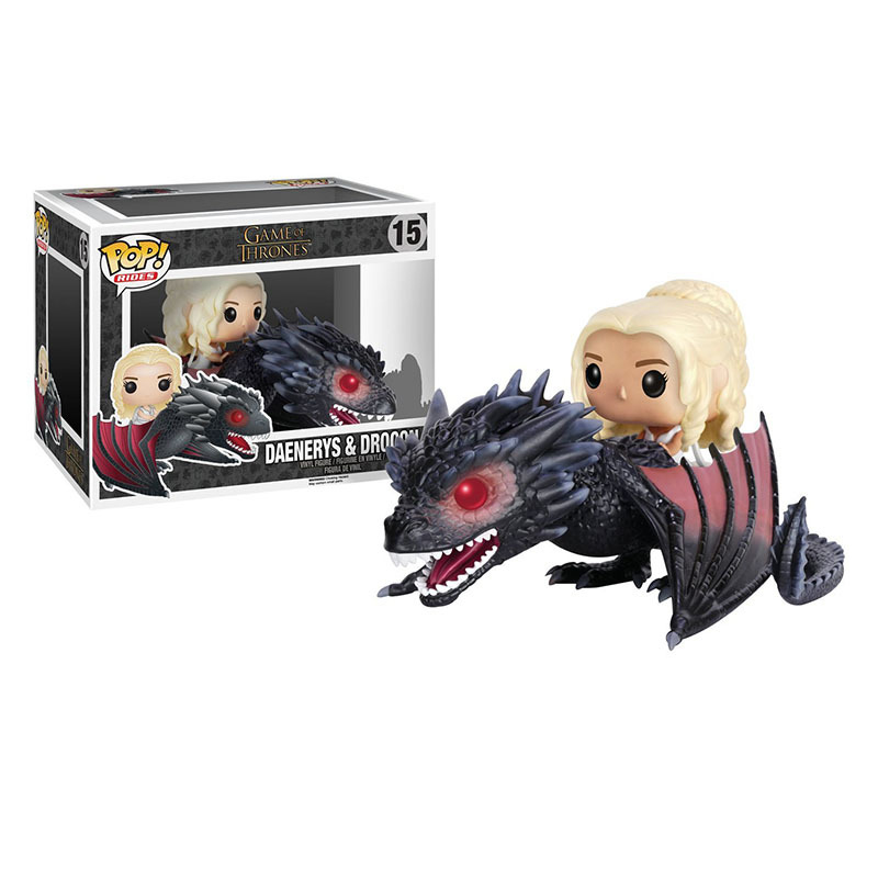 Funko pop originais Song Of Ice And Fire Game Of Thrones Dragon Action Figure Boy Toys Birthday Gift Christmas Toys For Children funko pop princess elsa anna action figure model doll kids toys birthday gift for girl 410cm christmas gift