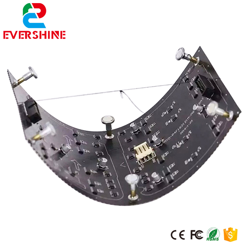 Evercollectvision HD SMD2121 256x128mm 64x32 Dots Soft Indoor P4 Flexible Full Color LED Module Use For Around LED Screen