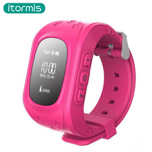2017 New Arrival itormis W41 Smart Baby Kids Child Watch Anti Lost GPS SOS Monitor Positioning Phone Compatible with IOS Android