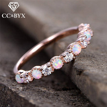 CC Trendy Jewelry Rings For Women Bijouterie Opal Cubic Zirconia Simple Personality Wedding Engagement Ring Bridal