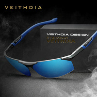 VEITHDIA HD Polarized Sunglasses Original Men New Arrival Branded Eyes Protect Square Sun Glasses With Box