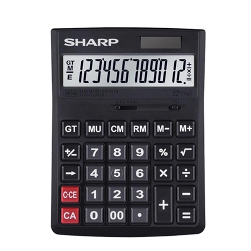 SHARP Genuine CH G12 Calculator Large Screen Solar Financial Accounting Business Office Computer|calculadora cientifica|calculator 12 digits|calculator gift - title=
