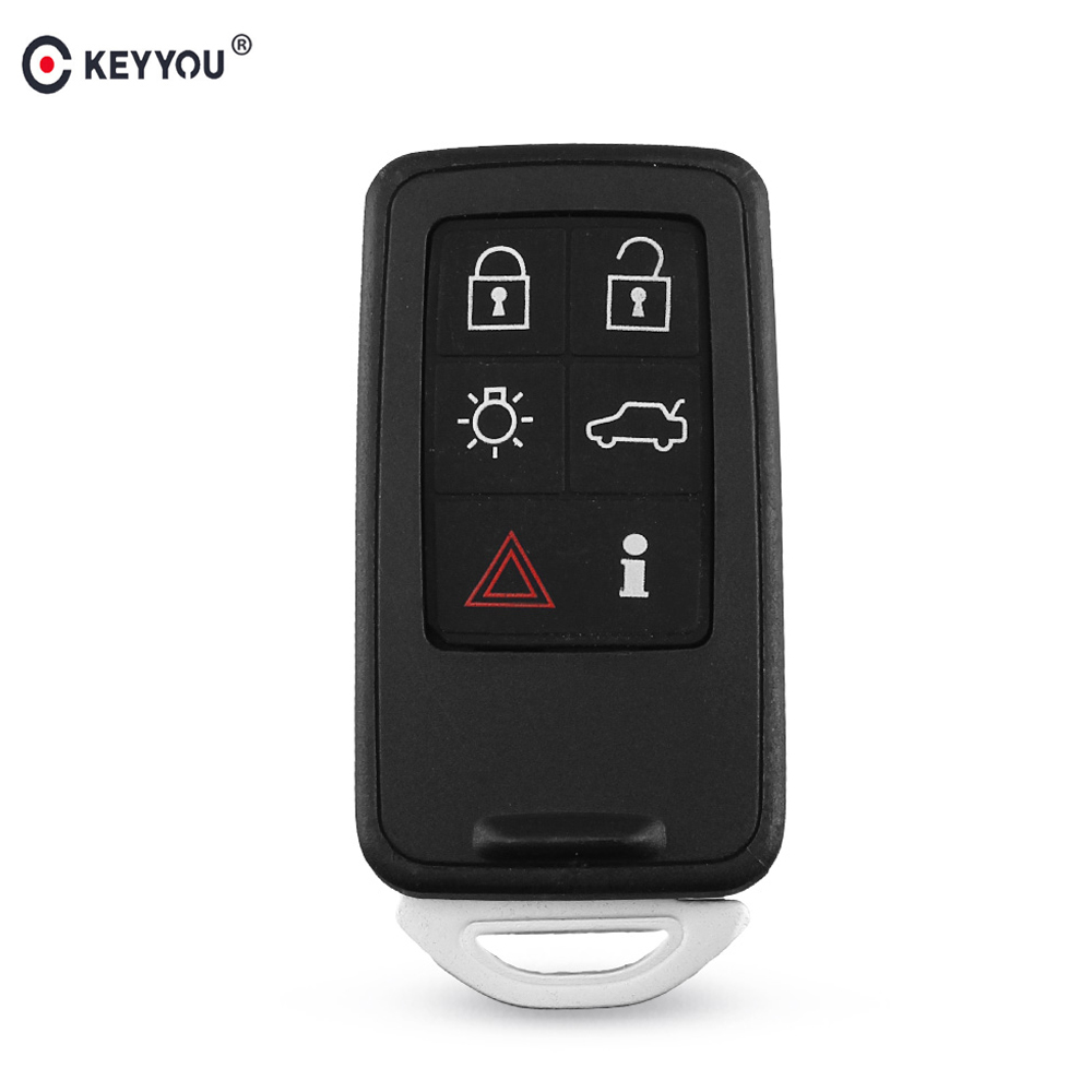 KEYYOU For Volvo XC70 V70 XC60 S80 S60 2008 2009 2010 2011 5+1 Buttons Key Blank Fob Case 6 Buttons Remote Key Shell Car StylingKEYYOU For Volvo XC70 V70 XC60 S80 S60 2008 2009 2010 2011 5+1 Buttons Key Blank Fob Case 6 Buttons Remote Key Shell Car Styling