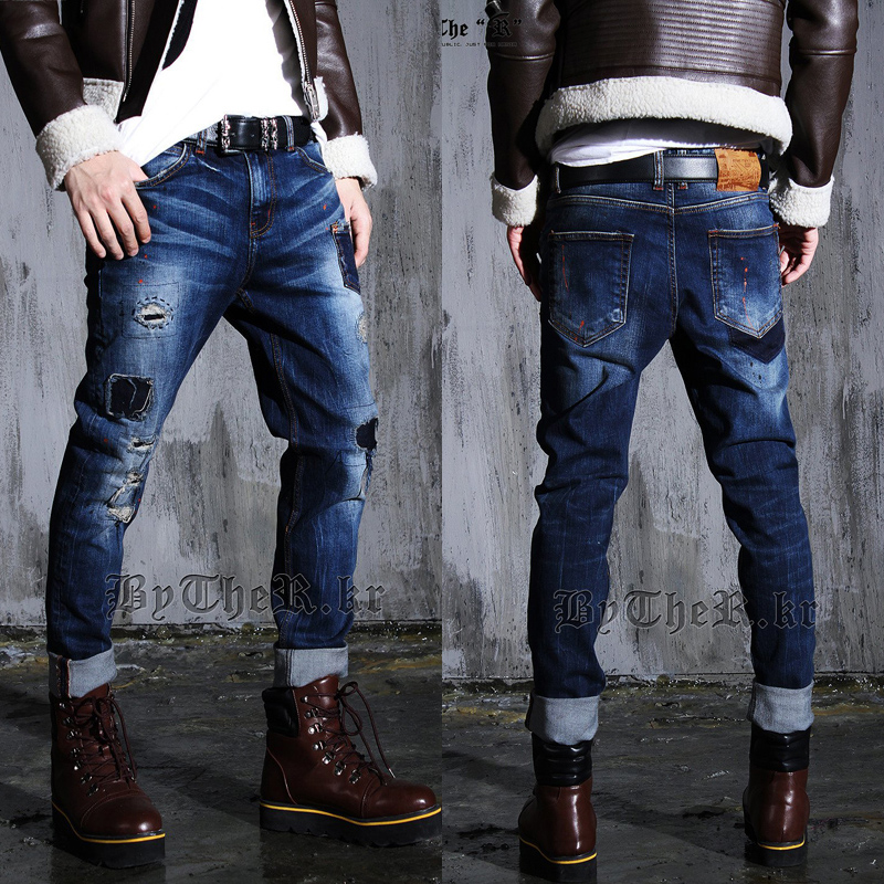 Men New Fashion Ripped Jeans Pants European Style Men 39 S