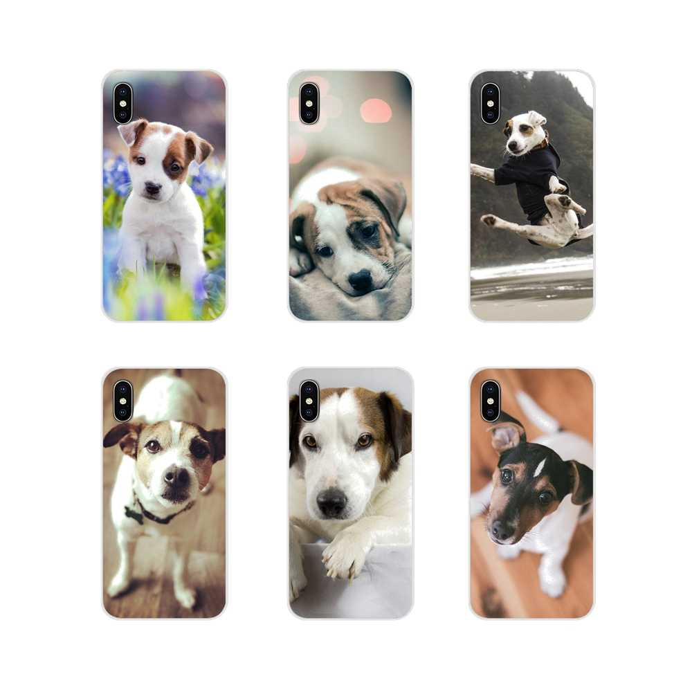 สำหรับ Samsung Galaxy S4 S5 MINI S6 S7 edge S8 S9 S10 Plus หมายเหตุ 3 4 5 8 9 TPU กระเป๋า I Love My jack russell Terrier dog puppy Art
