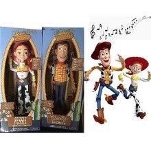43 cm juguete historia 3 hablando Woody Jessie Buzz Lightyear 30 cm muñecos  de acción modelo de juguete juguetes de los niños re. 1db87edcf25