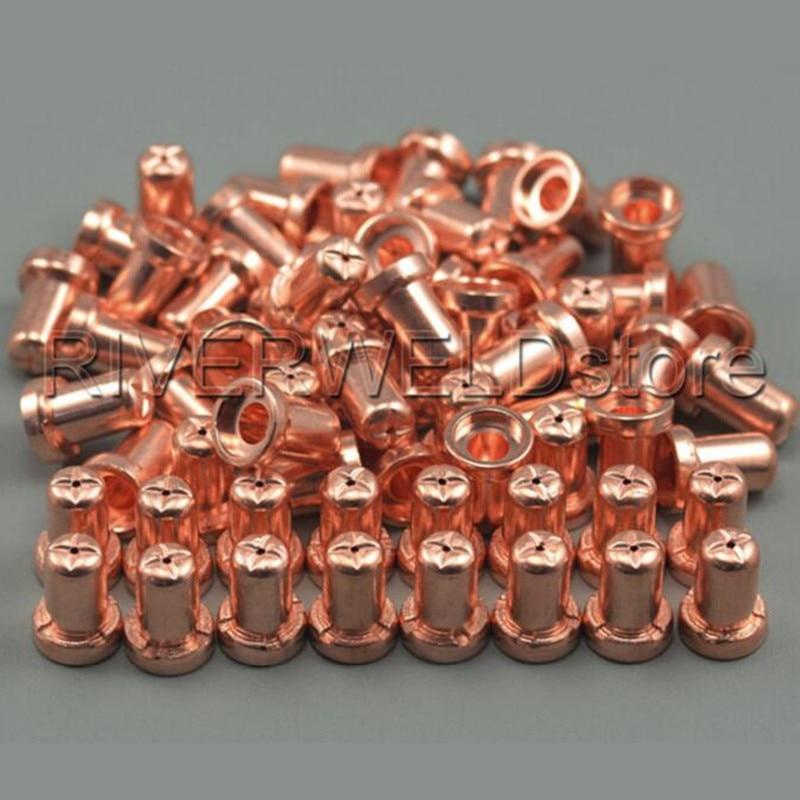 PT-31 LG-40 Air Plasma Cutting Cutter Torch Consumables Extended Nozzles/Tips 18866L Fit CUT40 CUT-50D CT-312, 50PK