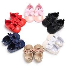 Обувь для девочек; коллекция года; сезон осень; детская обувь для новорожденных с объемным бантом; мягкая хлопковая нескользящая обувь принцессы для маленьких девочек