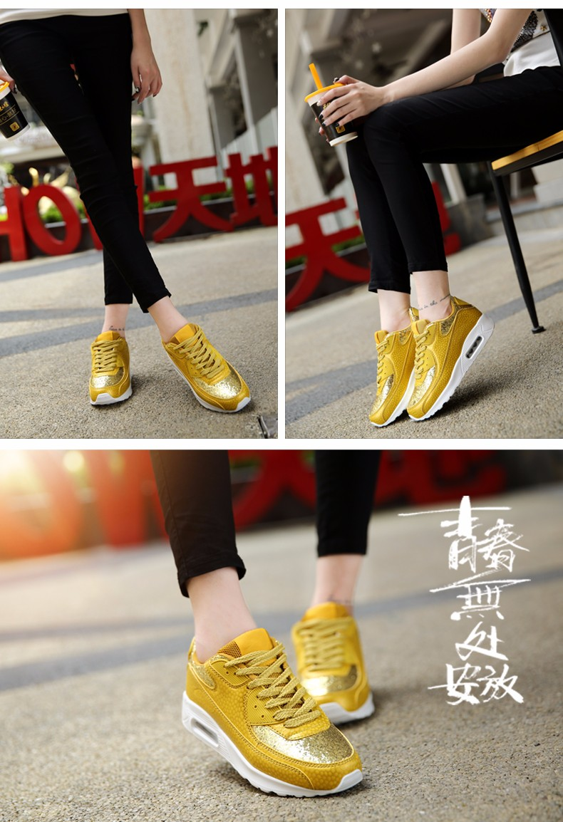 Fashion KUYUPP Wedges Women Trainers Breathable Sport Sequined Cloth Casual Shoes Outdoor Walking Shoes Zapatillas Mujer YD36 (16)