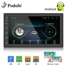 Podofo 2 Дин радио андроид мультимедийный проигрыватель gps навигации 7 «HD сенсорный экран цифровой дисплей Универсальный Авто аудио стерео