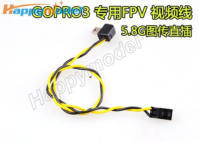 Real Time AV Output Cable for Gopro3 FPV Camera 3 work for 5.8G receiver