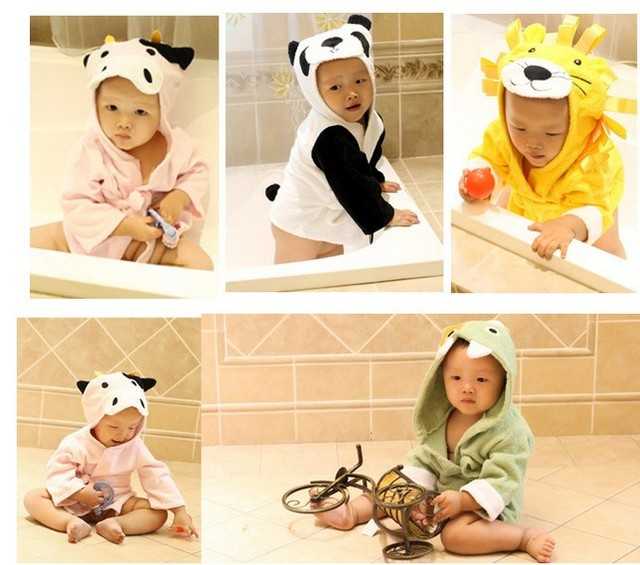 2014 The new style baby bathrobe , modeling package is , pajamas