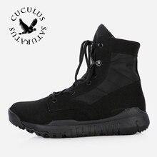 Cuculus Táctico Botas de los hombres botas de Combate Del Desierto Al Aire Libre Botas Zapatos de Otoño Del Verano Del Tobillo Hombres Botas Trabajo zapatos de Viaje CQBZB