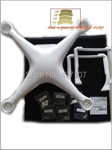 100$ Original DJI Phantom 3 Professional/Advanced Original Spare Parts Body Shell replacement With Landing Gear