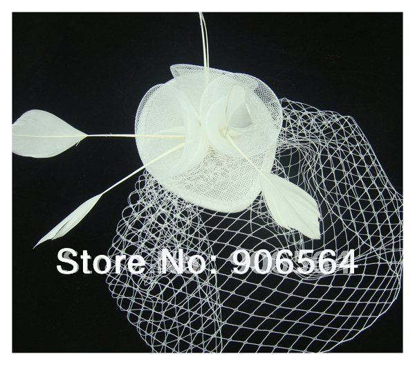 Free shipping 3 roses decoration fascinator hats bridal veils party occasion headwear church hats fancy race hair accessories