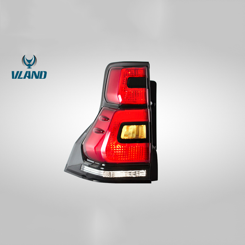 Vland Factory Car Accessories Tail Lamp for Toyota Land Cruiser Prado 2010 2016 LED Tail Light