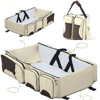 2018 New Multi Function Foldable Portable Crib Bed Large Capacity Mmmy Bag Shoulder Baby Bag Travel