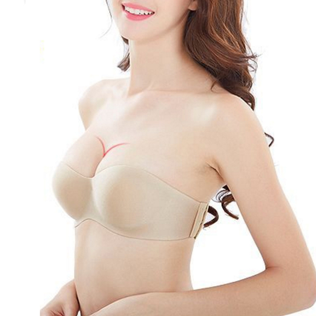 Sexy Lingerie clear back Brassiere Half Cup Bra Women Seamless Invisible Bras Sutian Female Underwear Strapless Push Up Bra G 1