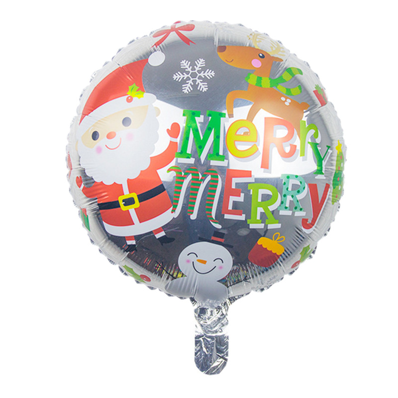 BINGTIAN 18inch Round Christmas Day Balloon Santa Claus & Snowman Foil Balloons Party Decorations Globos Classic Toy