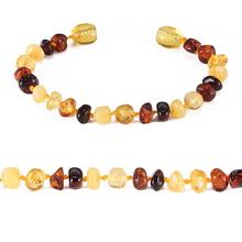 Baltic Amber Teething Bracelet/Anklet for Baby - Simple Package - 10 Colors - 4 Sizes - Lab Tested baltic amber bracelet for adult simple package lab tested authentic 2 sizes 10 colors