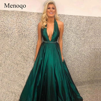 Halter Neck Prom Dress 2019 Low Open Back Gown Formal Party Dress Prom Special Occasion Dress