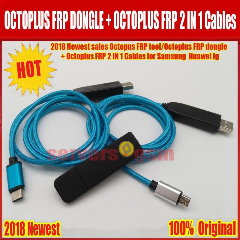 2018 Le Plus Récent des ventes D'ORIGINE Octopus FRP outil/Octoplus FRP dongle + Octoplus FRP USB UART 2 EN 1 Câbles pour Samsung Huawei lg