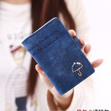 20 Card Holder Small Short Umbrella Women Ladies Leather Business Credit ID Card Holders Carteira Feminina Portefeuille Femme 40(China)