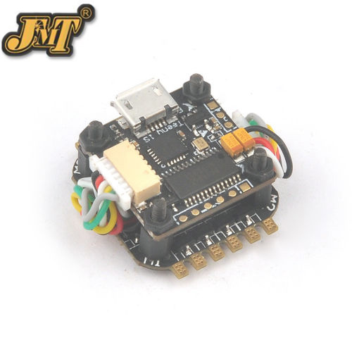 F21744 JMT Teeny1S F4 Flight Controller Model  OSD + 1S 4 in1 BlheliS ESC for DIY Mini RC Racing Drone FPV teeny1s f4 flight controller board with built in betaflight osd 1s 4 in1 blhelis esc for diy mini rc racing drone fpv