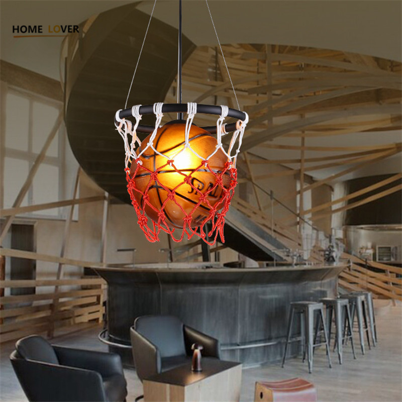 Modern pendant lights for Children Kids room Bedroom Lighting suspension luminaire Basketball E27 bulb lamp led pendant light led modern lighting child bedroom pendant light cartoon led pendant lights kids bedroom boy girl lamp